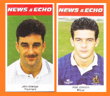 Tranmere Rovers John Aldridge Eire Wigan Athletic Alan Johnson